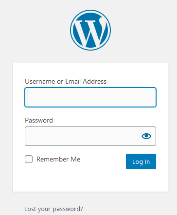 Login To WordPress Admin