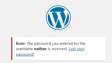 WP Login Error